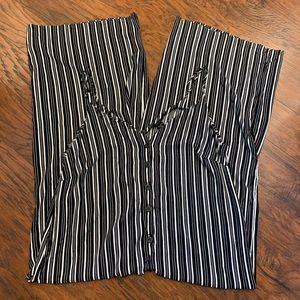 "Plus Size ""Toxic"" Jumpsuit. Black/White Stripes"